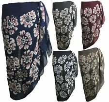 FLORAL COTTON Blend Large Sarong Beach Pareo Wrap Swimwear Cover Up 180x100cm