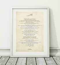 415 The Killers - Runaways - Song Lyric Art Poster Print - Sizes A4 A3