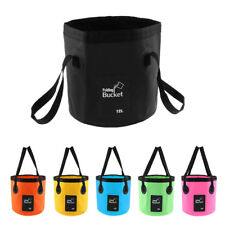 12L 20L Portable Folding Washbasin Bucket Camping Fishing Water Storage Pot
