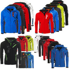 Geographical Norway uomo Softshell Funzionale PIOGGIA SPORT Giacca