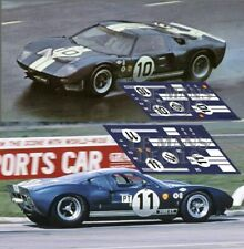 Calcas Ford  GT40 Sebring 1965 1:32 1:24 1:43 1:18 64 87 slot decals