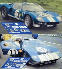 Calcas Ford GT40 Test Le Mans 1965 1:32 1:24 1:43 1:18 64 87 slot decals