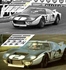 Calcas Ford MkII Le Mans 1965 1:32 1:24 1:43 1:18 64 87 slot GT40 decals