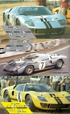 Calcas Ford MkII Le Mans 1966 7 8 1:32 1:24 1:43 1:18 64 87 slot GT40 decals