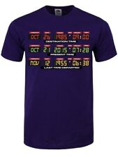 Herren T-Shirt DeLorean Dashboard lila