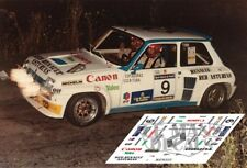 Calcas Renault 5 Turbo Rally Asturias 1984 9 1:32 1:43 1:24 1:18 decals Fombona