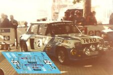 Calcas Renault 5 Turbo Rally Torrelavega 1983 2 1:32 1:43 1:24 1:18 decals Peña