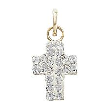 Men's 9ct Gold Crystal Cross Necklace