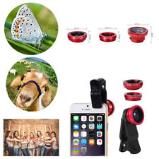 3in1 Clip-on Lens Wide Angle & 180° Fisheye Micro Camera For iPhone Smart Phone