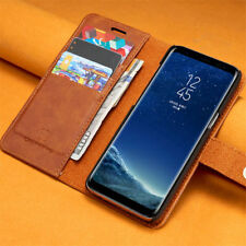 Removable PU Leather Wallet Magnetic Flip Card Case Cover For iPhone & Samsung