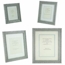 Ornate Silver Shabby Chic Vintage Picture Frame White/Silver mount 6x4 - 12x8  p