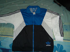 ADIDAS SPO POLY MENS TRACK TOP JACKET  BLACK/AirFor BLUE ***NEW**