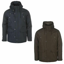 Pierre Cardin Mens Shell Parka Jacket Winter Coat with Hood and Warm Padding