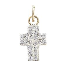 9ct Gold Crystal Cross Necklace