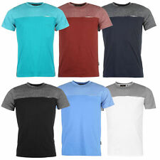 Pierre Cardin Fashionable Classic Crew Neck Mens Short Sleeve Marl Panel T-shirt