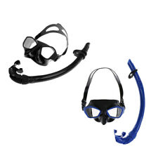 Silicone Snorkeling Scuba Diving Swimming Goggles Mask & Dry Snorkel Set