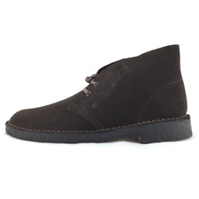 Clarks Desert Boot polacchino uomo stringato in camoscio marrone (dark brown)