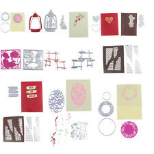 22 STILI METALLO FUSTELLE STAMPO SCRAPBOOKING ALBUM CARTA CARTONCINO decorazione