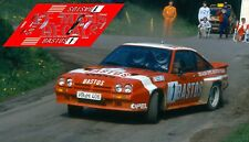 Calcas Opel Manta 400 Rally Wallonie 1984  Rallye slot decals Coulsoul