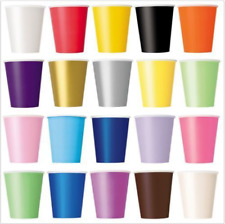 Christmas Birthday Halloween Party 9 oz Premium Colour Paper Cups Pack 14 NEW