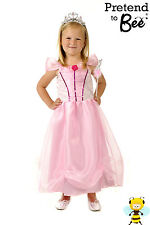 BUY GIRLS KIDS CHILDRENS PINK PRINCESS CINDERELLA FANCY DRESS COSTUME AGE 3-5-7