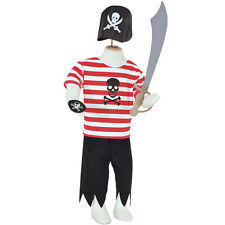 BUY TODDLER BOYS KIDS CHILDS DELUXE BUCCANEER PIRATE COSTUME OUTFIT HAT AGE 2-8