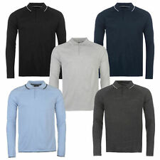 Pierre Cardin Mens Knitted Long Sleeve Polo with Contrast Tipping Detail
