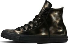 Scarpe Converse Chuck Taylor CT HI BRUSH  ALL STAR in pelle nera vintage 553301C
