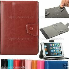 """Universal Folio PU Leather Case Cover Stand For 9.7'' to 10.1"""" Android Tablet PC"""