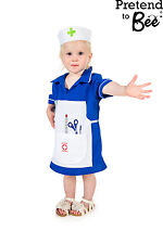 BABY TODDLER GIRL NURSE UNIFORM FANCY DRESS ROLE PLAY OUTFIT COSTUME GIRLS 1-2-3
