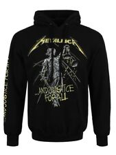 Metallica And Justice For All Tracks Men's Black Pullover Hoodie