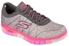 Skechers Go Flex - Ability Charcoal / Pink Textil, Weite: normal Textil