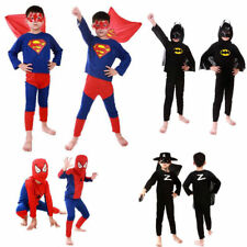Boy Kids Children Superhero Fancy Dress Costume Spiderman cosplay costume Outfit