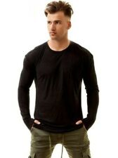 kuwalla lin t-shirt manches à longues homme sweat pull chemise pull