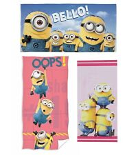 Kids Childrens Despicable Me Minion Bello Minions Bath Beach Swim Cotton Towel