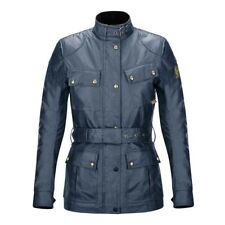 Belstaff Official Classic Tourist Trophy Motorcycle Motorbike Jacket Blue Ladies