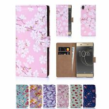 PU Leather Floral Design Book Wallet Case Cover For Sony Xperia XA1 Ultra
