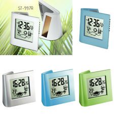 Solar / Water / Battery Powered Digital Bedside Snooze Alarm Clock Date Weather
