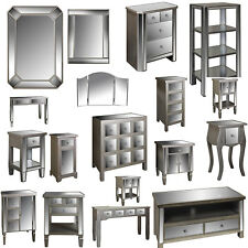 ELEGANT OPERA MIRRORED LIVING ROOM BEDROOM FURNITURE CHEST, CONSOLE, SIDE TABLES