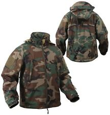 NOI SPECIALE OPS TATTICO ESERCITO Softshell Giacca PILE WOODLAND Mimetico JACKET