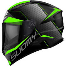 Casco integrale suomy Speedstar Rap green in fibra .