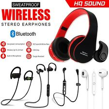 Original Wireless Bluetooth Headphones 4.1 Mic For Sport Gym Sweatproof Headset