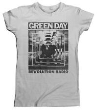 Green Day ' Power Shot 'womens fitted T-SHIRT - NUOVO E ORIGINALE