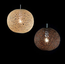 Natural Abaca Rattan Ball Pendant Shade 2 Colours 2 Sizes (Similar to Wicker)