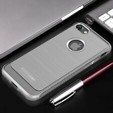 Cover iPhone 8 7 Carbon Design Antiurto Shockproof Spessa Frosted Case Noziroh