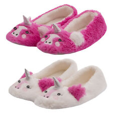 Ladies Pink Unicorn Slippers Womens Novelty Animal House Slippers Xmas Present