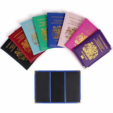 UK Passport Holder Protector Cover Wallet PU Faux Leather United Kingdom New