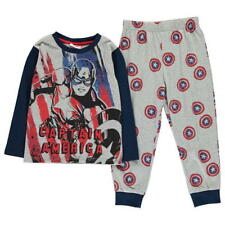 BOYS CHILDRENS GREY AVENGERS PJ'S PYJAMA SET TOP BOTTOMS PYJAMAS