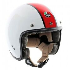 AGV RP60 B4 DELUXE BIANCO/ROSSO VINTAGE / SCOOTER CASCO A VISO APERTO