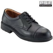PSF EXECUTIVE LEATHER MANAGER BROGUE SAFETY COMPOSITE TOE CAP WORK SHOES SIZE